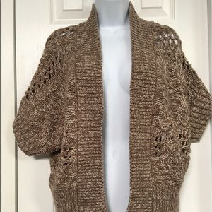 Chunky Knit Open Cardigan Sweater